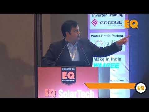 Shailesh Vaidya, CEO, Scorpius Trackers Pvt. Ltd. at EQ SolarTech Conference