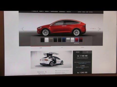 Tesla Model X Signature configurator open