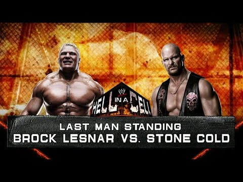 Brock Lesnar & CM Punk VS. HBK & Stone Cold - مصارعه حره 2014 جديده -