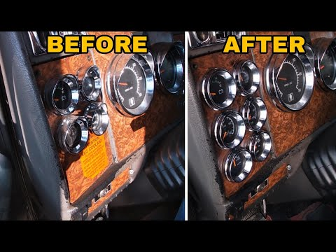 Installing Kenworth 6 Gauge Dash Panel | KENWORTH Left Side Gauge Dash Panel