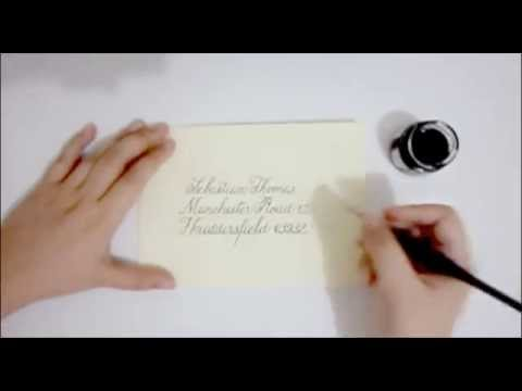 Envelope Address Lettering Process - Dear Sicilia