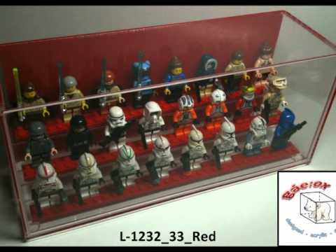 Designed Acrylic Display Cases For Lego Minifigures L