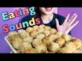 【EATING SOUNDS】ごま団子!!Fried sesame coated dough balls with sesame filling!!