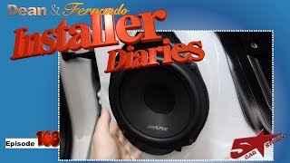 We finish a Chevrolet Truck with some Alpine SPT 31GM speakers  Installer Diaries 168 part 3