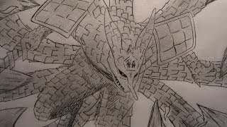 Como Dibujar a KURAMA con armadura SUSANOO / How to Draw KURAMA with armor SUSANOO
