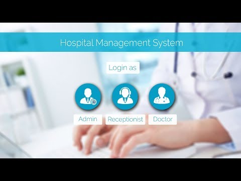 Hospital management system in Java Netbeans project - GUI in java swing - sqlite database