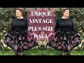 Unique Vintage Plus Size Fashion Try-On Haul | Plus Size Vintage Clothing Try On Haul