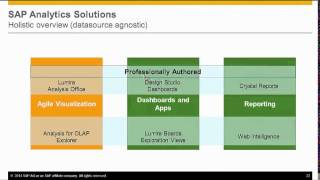 SAP BusinessObjects BI 4.1 Value Proposition and Selecting the Right Client Tool