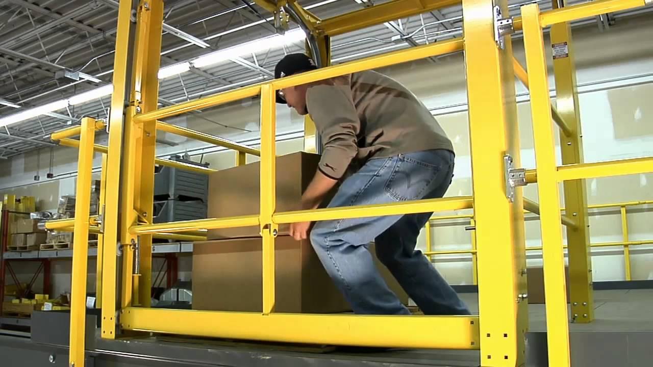 GateKeeper Mezzanine Safety Gate - YouTube