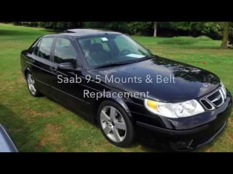 Saab 9-5 Cars Engine #Mount #Belt, #BeltTensioner Replacement