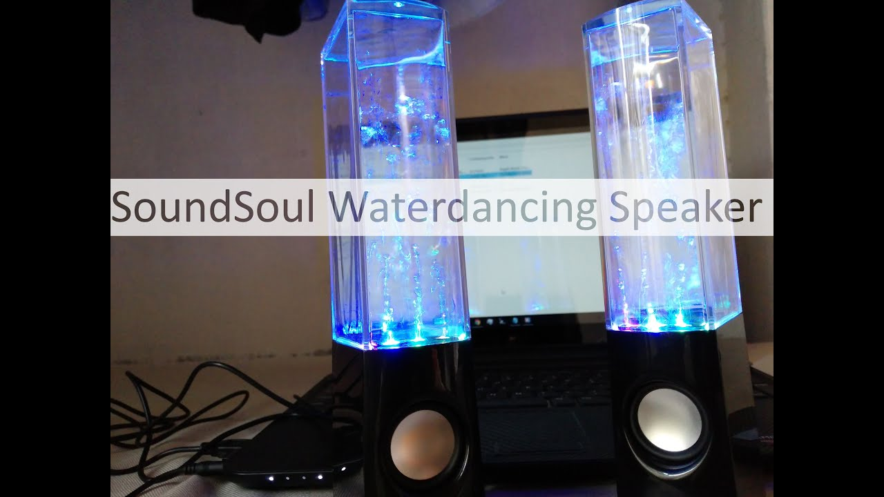 Soundsoul Water Dancing Stereo Speaker Setup Unboxing And Overview