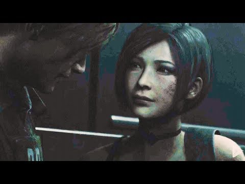 RESIDENT EVIL 2 Remake Leon and Ada Kiss Scene 1080p 60FPS