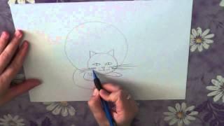 Как нарисовать кота поэтапно. Часть 1.(В данном видео я расскажу о том, как нарисовать кота поэтапно. Этой теме будет посвящено несколько видео...., 2013-05-11T10:50:35.000Z)