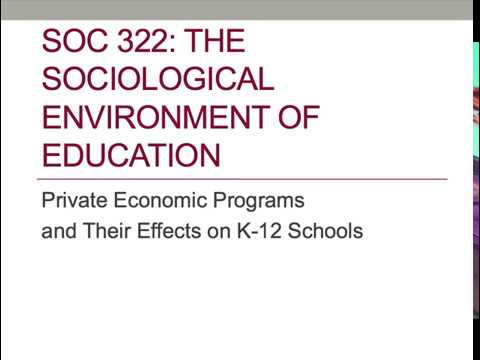 Private Economic Programs and Their Effects on K-12 Public Schools
