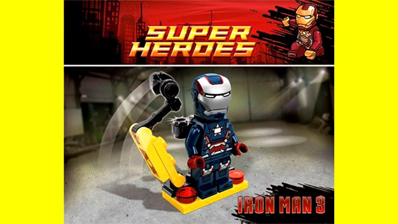 Lego Iron Patriot Exclusive Minifigure Preview Lego Marvel