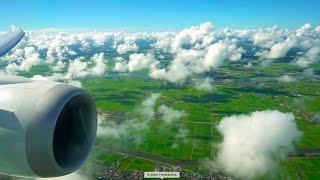 Stunning JAL Boeing 787 Dreamliner landing in Tokyo (Narita)!
