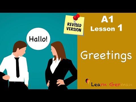 A1 - Lesson 1 | Begrüßungen | Greetings | German for beginners | Learn German