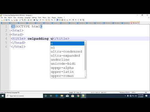 html css tutorial in bangla part 17 table cellpadding thumbnail
