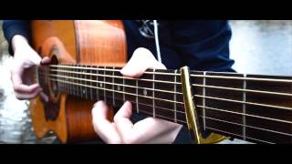 afire love ed sheeran fingerstyle guitar cover