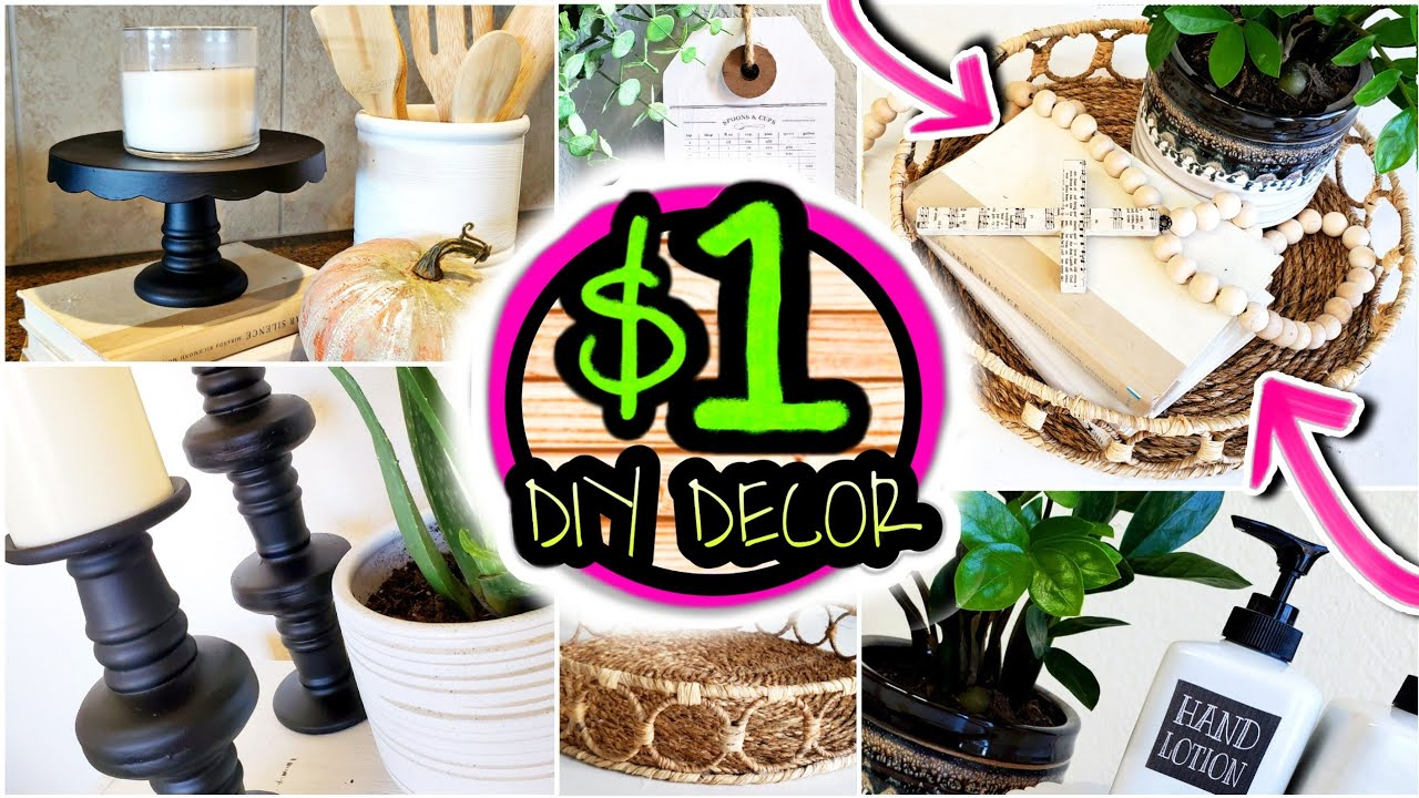 NEW Dollar Tree DIYs! HIGH-END DIY ROOM DECOR ON A BUDGET 👍