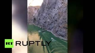 شاهد.. لحظة سقوط فتاة من ارتفاع 16 ألف قدم في تركيا