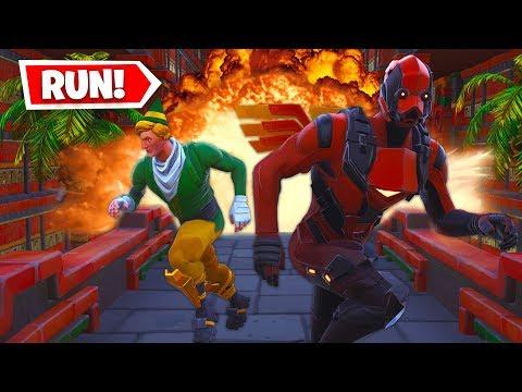 Lachlan & Boomer *ESCAPE* The Volcano Run (Fortnite Creative)!