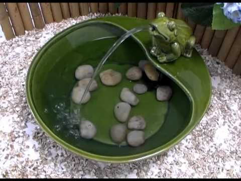 Frog Solar Water Feature