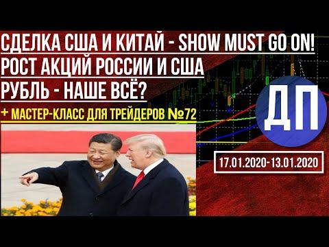Почему растут акции в России и в США. Рубль - наше всё? Сделка США и Китай на этой неделе.