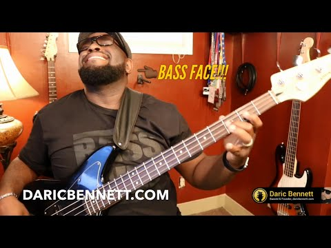 SHUFFLE BASS LINE GROOVE - Lessons, Tips & Licks ~ Daric Bennett's Bass Lessons