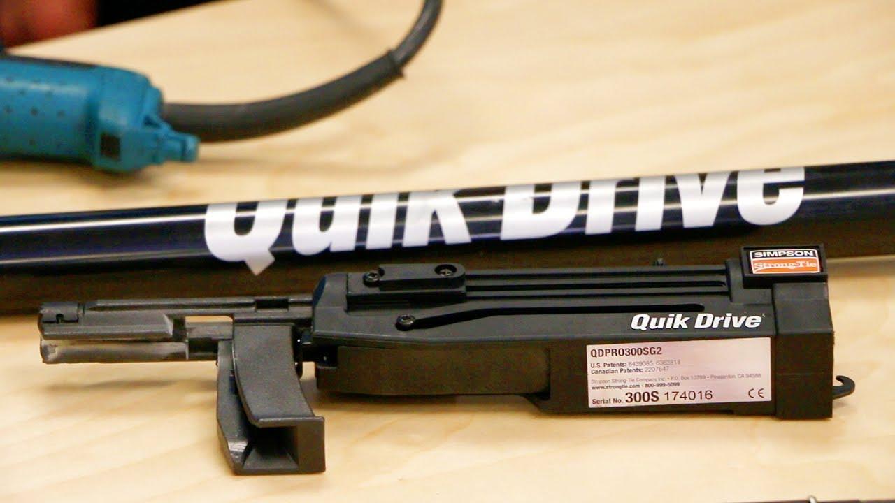 Quik Drive Pro300s Auto-Feed Screw Gun   Allfasteners 1800 255 349