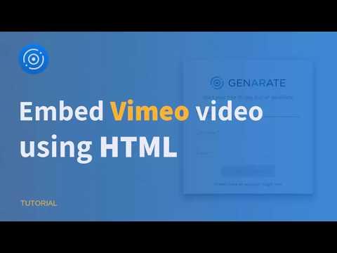 How to Embed Vimeo video using HTML  | genARate Studio Tutorial | Augmented Reality thumbnail
