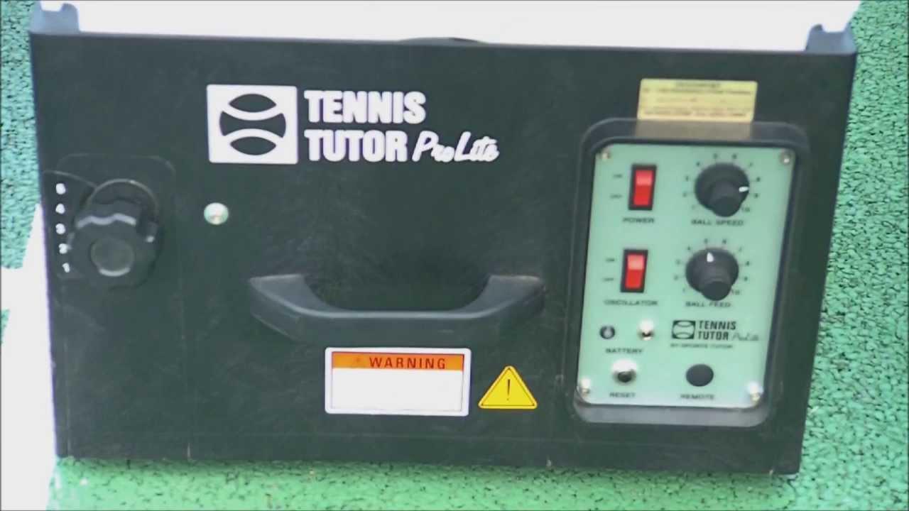 Tennis Tutor Prolite Ball Machine Review Youtube