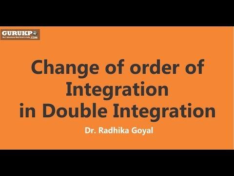 Change of order of Integration in Double Integration, Mathematics  (B. Sc. I), Gurukpo
