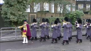 Remembrance Sunday London 2016 Troops March to the Cenotaph