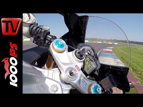 Aprilia RSV4 RF Onboard | Superbike Vergleichstest 2015