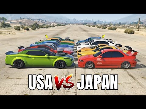 GTA 5 ONLINE - USA VS JAPAN (WHICH IS FASTEST?)