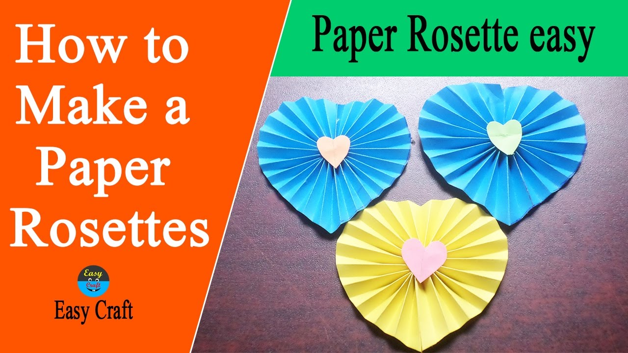How to make a paper rosettes flowers paper rosette easy easy how to make a paper rosettes flowers paper rosette easy easy craft mightylinksfo Choice Image