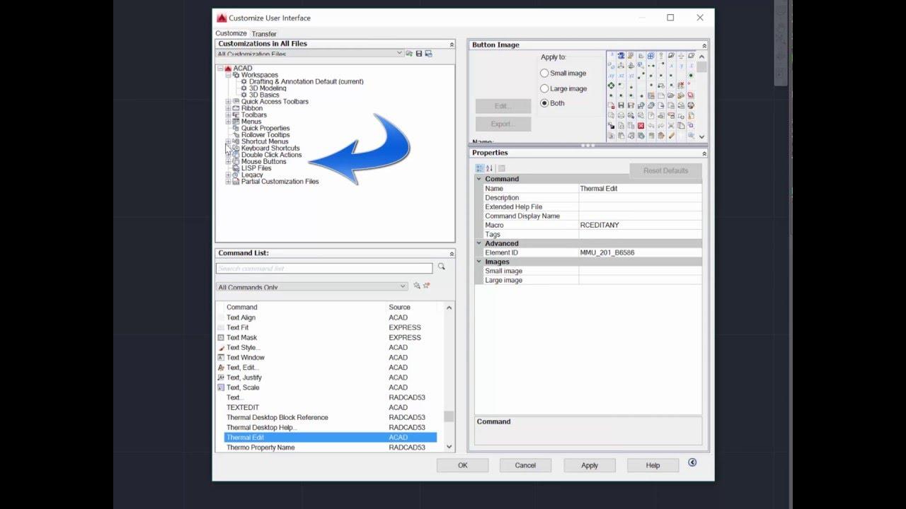 Keyboard shortcuts in AutoCAD