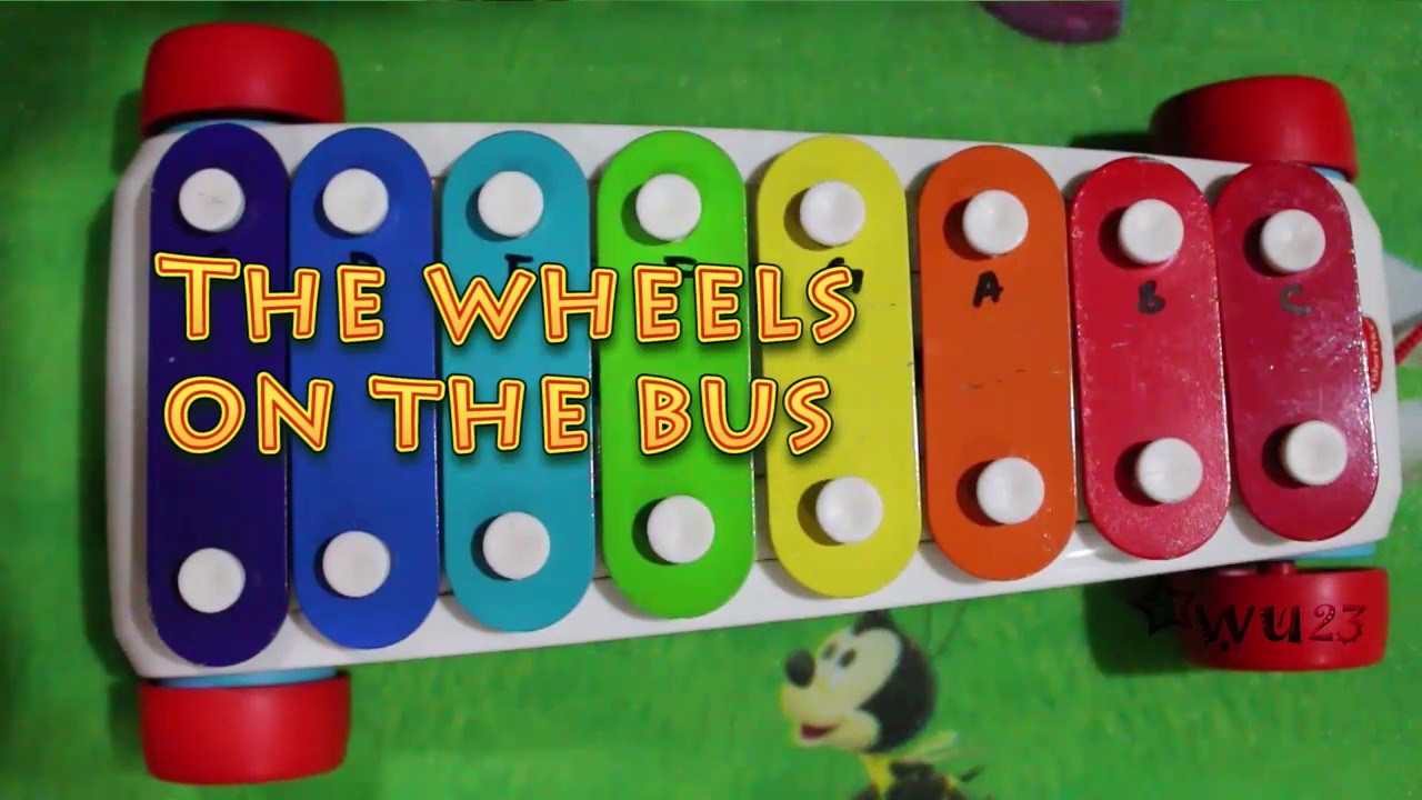 Fisher-Price Little People -kids play toy vehicles ...  |Fisher Price Bus Nursery Rhymes