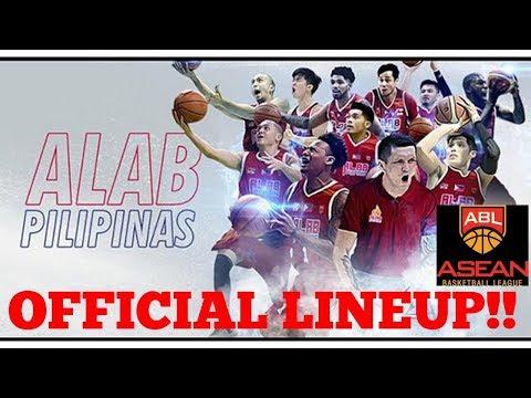 ALAB PILIPINAS OFFICIAL LINEUP | ABL 2017-2018 SEASON Full HD