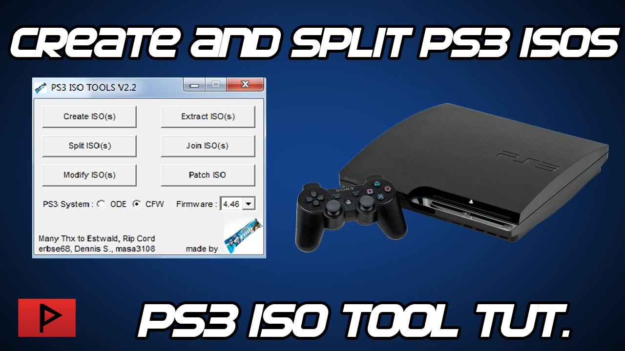 [How To] Create and Split PS3 ISO Files on PC Using PS3 ISO Tools V2 2