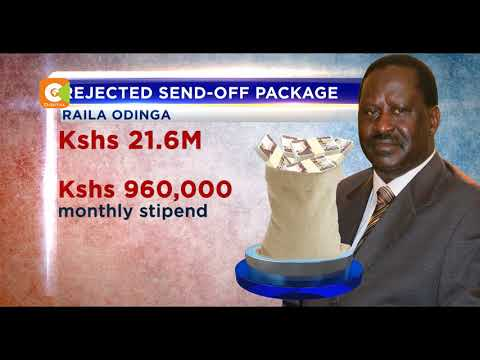 Bill proposes generous retirement package for Raila, Kibaki and others