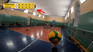 FULL MATCH VOLLEYBALL FIRST PERSON GAME LIKE HAIKYUU IN REAL LIFE | 6 sets game | #91 episode