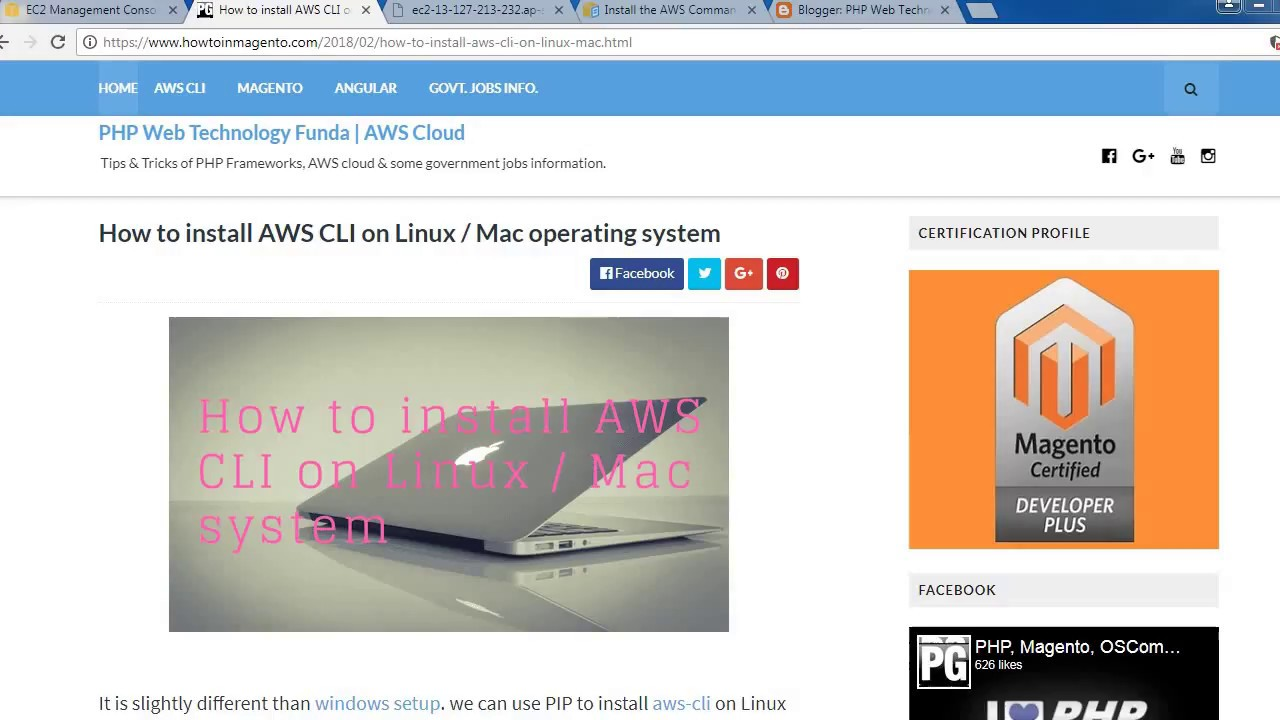 Install pip aws cli linux   How to Install and Configure AWS