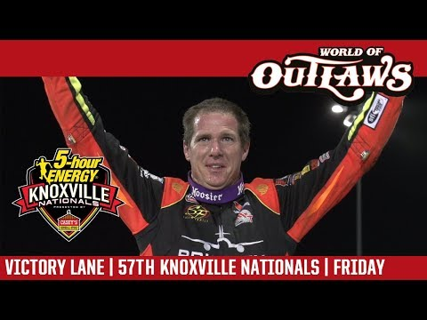 World of Outlaws Craftsman Sprint Cars Knoxville Raceway August 11, 2017 | VICTORY LANE