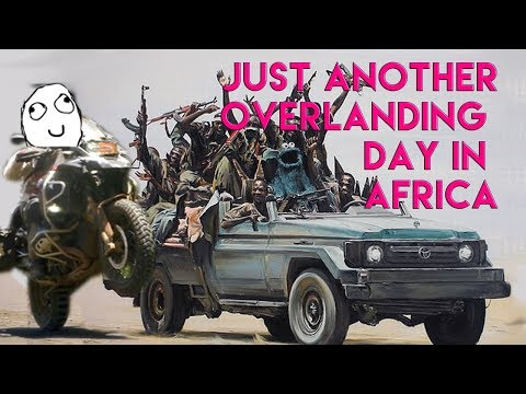 Any Bandits Around Mate? Adventure Motorbike Riding Africa Clip -  North Kenya.