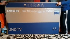 Samsung 65 Inch UHD LED Smart TV 4k UE65MU6175 Unboxing & Setup