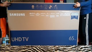 Samsung 65 Inch UHD LED Smart TV 4k UE65MU6175 Unboxing & Setup