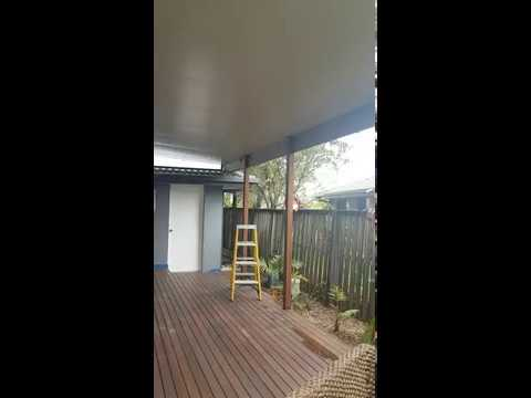 How to Clean Insulted patio ceiling and fridge panels