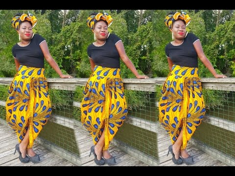 COWL SKIRT ○DIY AFRICAN SKIRT ○HOW TO STYLE COWL SKIRT○LOOKBOOK Best African Skirts Patterns